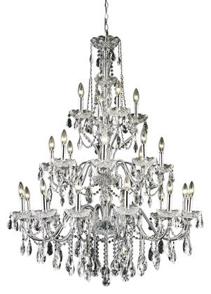 2016G36C/EC 2016 St. Francis Collection Hanging Fixture D36in H49in Lt: 12+8+4 Chrome Finish (Elegant Cut