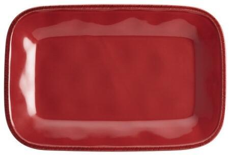 57232 8 x 12-Inch Stoneware Rectangular Platter  Cranberry