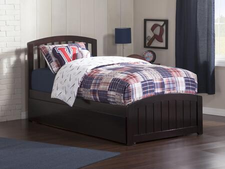 Richmond Colletion AR8826011 Twin Size Platform Bed with Matching Footboard with Twin Size Urban Trundle Bed in