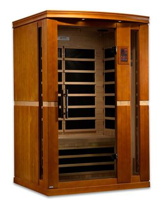 "Vittoria Edition DYN-6220-01 75"" Far Infrared Sauna with 2 Person Capacity  6 Carbon Heating Elements  Music System with Bluetooth and 2 Dynamic Speakers"