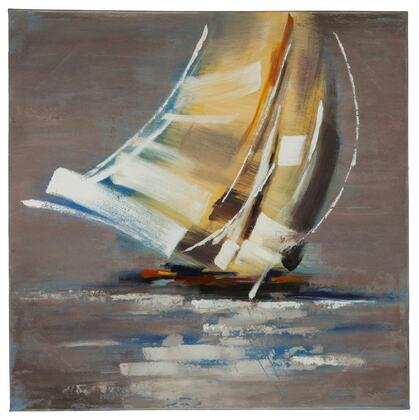 40884 Sail Boat II in Hand Painted  Textural Paint on