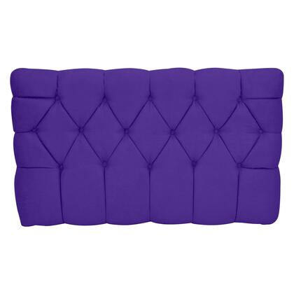 inch Meridia 11201PURS Collection inch  Tufted Upholstered Twin Headboard with Metal Legs and Wood Frame in Purple
