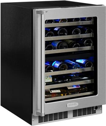 Marvel MP24WDG5RS Professional 24 Dual Zone Wine Refrigerator, Right Hinge