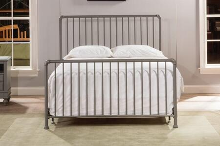 Brandi 2098HQR Queen Sized Bed with Headboard and Frame  Metal Constructed Panel and Frame in Stone