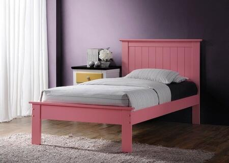 Prentiss Collection 25433FN 2 PC Bedroom Set with Full Size Bed + Nightstand in Pink