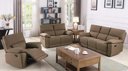 Foxton Collection 650251-S3 3-Piece Living Room Set with Reclining Sofa  Reclining Loveseat and Recliner in