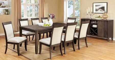 Forbes I Collection CM3435TDTB8SC 9-Piece Dining Room Set with 60