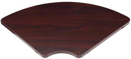 N6CT-M 36 inch  x 31 inch  Corner Table with Rear Support in Mahogany