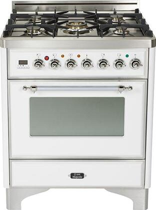 "UM-76-DMP-B-X 30"""" Majestic Series Freestanding Dual Fuel Range with 5 Sealed Burners  3.0 cu. ft. Primary Oven Capacity  Convection Oven  Warming Drawer"" 330287"