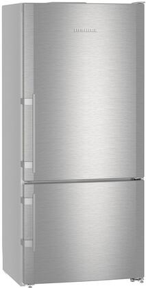 Liebherr CS1400RIM 30 Energy Star Rated Freestanding Right Hinge Bottom Freezer Refrigerator with 12.8 cu. ft. Total Capacity Ice Maker DuoCooling and 3 Glass Refrigerator Shelves in Stainless Steel