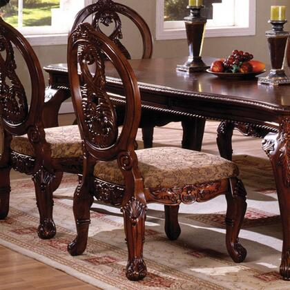 Tuscany I Collection CM3845CH-SC-2PK Set of 2 Side Chair with French Style Legs and Rich Details in Antique Cherry