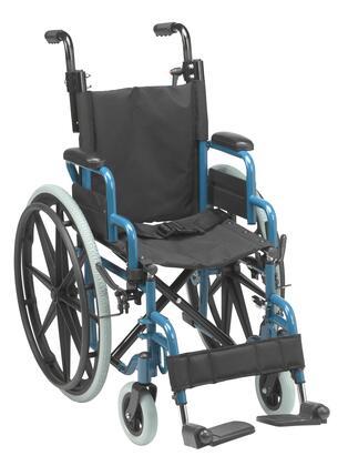 WB1400-2GJB Wallaby Pediatric Folding Wheelchair  14 inch   Jet Fighter