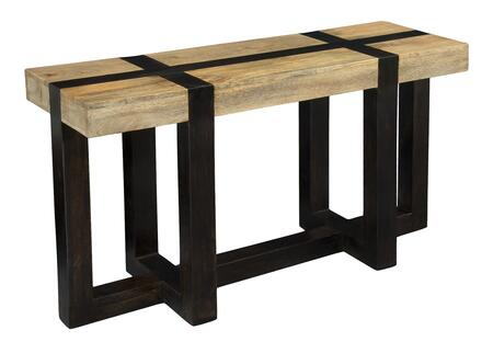 75314 54 inch  Console Table with Tahoe Natural Mango Top  Dark Mango Base and