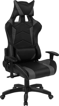 CH-CX1064H-GG Cumberland Comfort Series High Back Black And Gray Executive Reclining Racing/Gaming Swivel Chair With Adjustable Lumbar Support 26