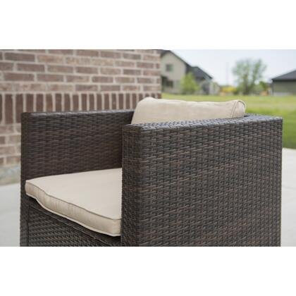 OR7SCSBR 7-Piece Modern Rattan Chat Group in