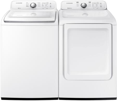 White Top Load Laundry Pair with WA45N3050AW 27
