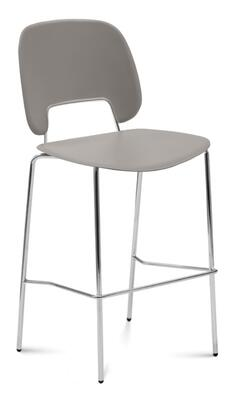 TRAFF.R.A0F.CR.PSA Traffic Stacking Chair with Chrome Frame  Foot Rest and Polypropylene Seat and Back in