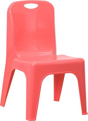 YU-YCX-011-RED-GG Red Plastic Stackable School Chair with Carrying Handle and 11'' Seat