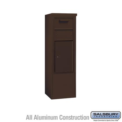 3910SX-1CZF Free-Standing 4C Horizontal Collection Box ADA Height Compliant (Includes 3710S-1CZF and 3910SX-BRZ Enclosure) - 10 Door High Unit (52-3/4 Inches)