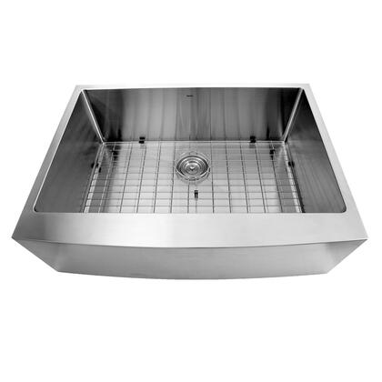 Apron302010SR-16 - 30 Inch Pro Series Single Bowl Undermount Apron Front Stainless Steel Kitchen