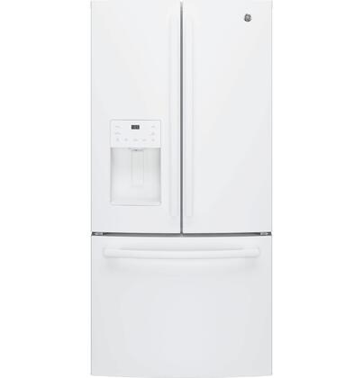 GFE24JGKWW 33 Energy Star Qualified French-Door Refrigerator with 23.8 Cu. Ft. Capacity  External Ice and Water dispenser  2 Humidity-controlled