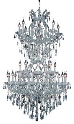 2801D36SC/RC 2801 Maria Theresa Collection Large Hanging Fixture D36in H56in Lt: 32+2 Chrome Finish (Royal Cut