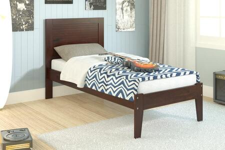 585TCP Twin Panel Bed With Slat-Kit-Mattress Ready: