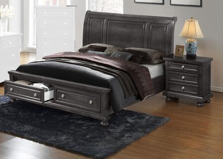 G7015A-FSBN 2-Piece Bedroom Set with Full Storage Bed + Single