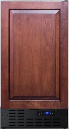 Summit FF1843BIFADA 18 in. Freestanding or Built in Counter Depth Compact Refrigerator, Black