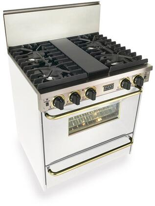 WPN28171SW 30 inch  Freestanding Gas-Liquid Propane Range With 4 Sealed Ultra High Low Burners  3.69 Cu. Ft. Capacity  TurboFlow Convection  Manual Clean  Broiler