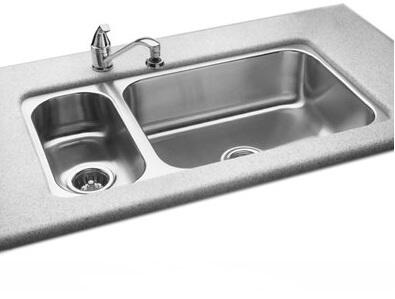 UODLM-1832-A-R Offset Bowl Undermount Group Stainless Steel