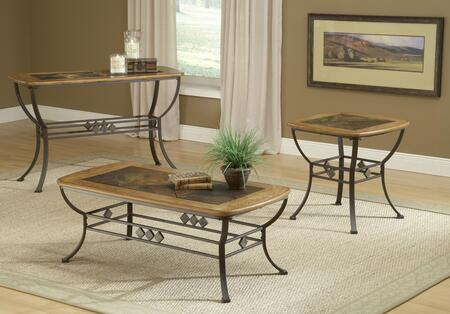 4264OTC3PC Lakeview 3 PC Living Room Table Sets with Cocktail Table  Sofa Table and End Table in Medium Oak Wood