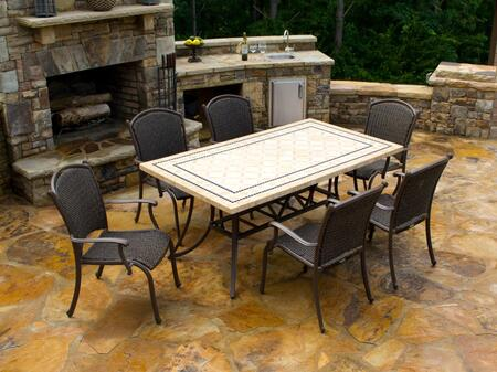 MQS7PC Marquesas 7 Piece Dining Set with 70