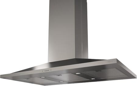 "ZAZ-M90BS 36"" Essential Europa Series Anzio Island Mount Range Hood with 600 CFM Internal Blower  ACT Internal Blower  ICON Touch Controls  Dishwasher Safe"