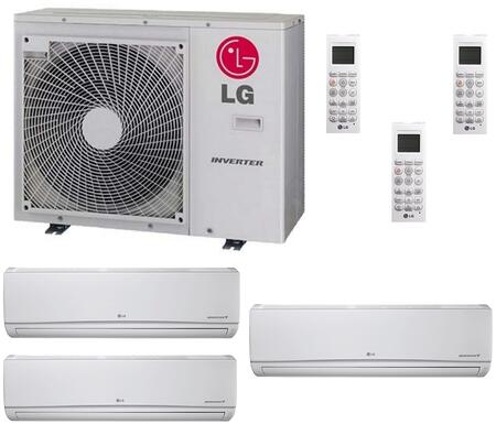 LMU36CHVPACKAGE50 Triple Zone Mini Split Air Conditioner System with 33000 BTU Cooling Capacity  3 Indoor Units  and Outdoor 706649