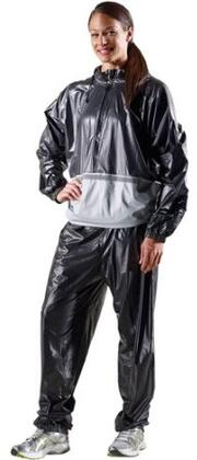 Gold Gym's Collection 05-0412 Deluxe Sauna Suit with M/L Size (Master PK16) in Grey