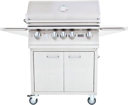 75623KIT L75000 Premium Gourmet Grill with Rotisserie  Smoker Box  Griddle and Temperature Gauge with Matching Cart  Stainless Steel: Natural