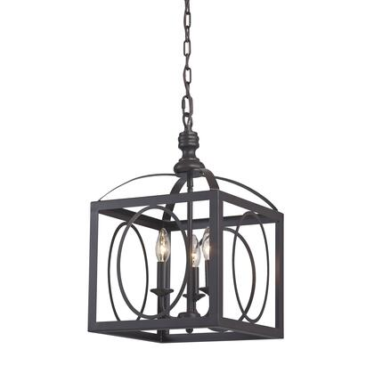 141-001 Ailsa-Ringed 3 Light Cluster Lantern in Aged Bronze