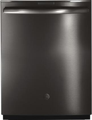 "GE Profile Series 24"" Built-In Dishwasher Black stainless steel PDT845SBLTS"