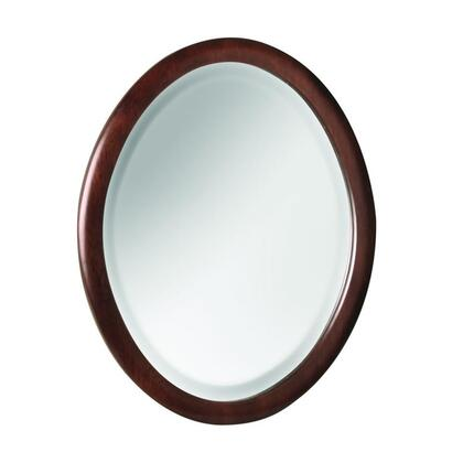 SHCOM1822 18 inch W x 22 inch H Shiloh Collection Matching Mirror with a Rounded Frame and Beveled Mirror in a Cognac