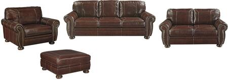 Banner Collection 50404SLCOO 4-Piece Living Room Set with Sofa  Loveseat  Chair and a Half and Oversized Ottoman in