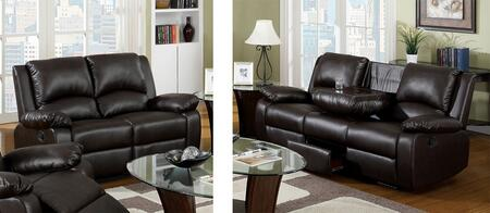 Oxford Collection CM6555SL-BTDX 2-Piece Living Room Set with Motion Sofa and Motion Loveseat in Rustic Dark