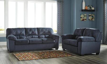 Dailey 95402-36-35 2-Piece Living Room Set with Full Sofa Sleeper and Loveseat in Midnight