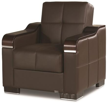 Uptown Collection UPTOWN ARMCHAIR BROWN PU 27-448 32
