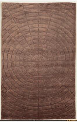 VILVT864500900203 Villa Travina VT8645-2' x 3' Hand-Loomed 100% Viscose Rug in Terracotta   Rectangle