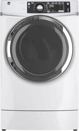 GE - RightHeight 8.3 Cu. Ft. 13-Cycle Electric Dryer with Steam - White GFD49ERSKWW