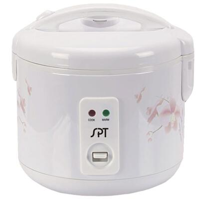 SC-1202W 6 Cups Rice Cooker With Stainless Body  Easy One-Button Operation  Cool Touch Exterior  Safety Lock Button & 3-Dimensional