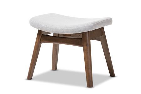 VERA-LIGHT-GREY-OTTO Baxton Studio Vera Mid-Century Modern Light Grey Fabric Upholstered