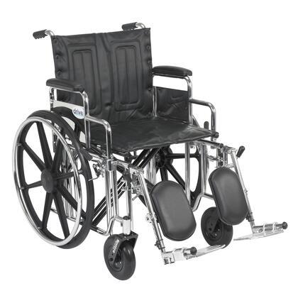 std20dda-elr Sentra Extra Heavy Duty Wheelchair  Detachable Desk Arms  Elevating Leg Rests  20