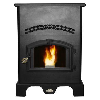 5500M 120 lbs Hopper Capacity Large Pellet Stove with Large Viewing Window Air Wash Glass and a 5 Heat Setting Digital Control